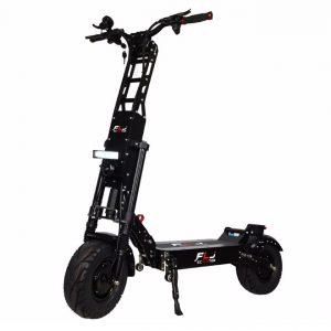 FLJ K6 Electric Scooter - Green E wheels